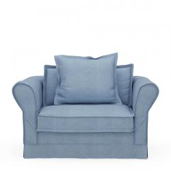 Carlton love seat cotton ice blue