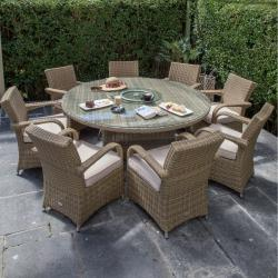 Warehouse clearance chester 8 seater round set