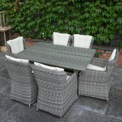 Yale 6 seater rectangle set