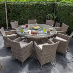 Warehouse clearance dumont 8 seater round set