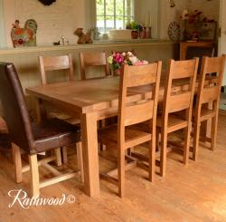 Fitzwilliam 6ft oak extending dining table